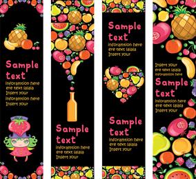 Las frutas coloridas lindo