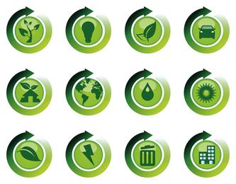 Reciclar reutilizar ícones de restauração
