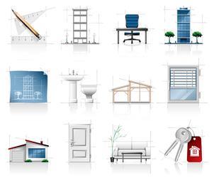 interior architectural sketches icon