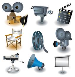 Conjunto de ícones de tema de filme