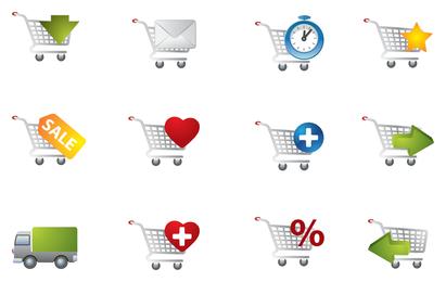 ícone prático carrinho de compras