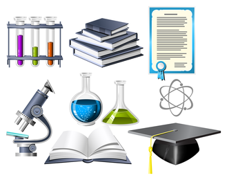 Biochemistry theme icon vector
