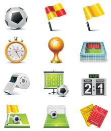 vetor de ícone de tema de futebol