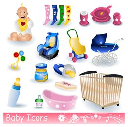 baby theme icon vector