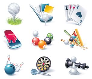 Vector de icono de juego de entretenimiento