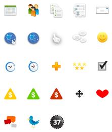 icono decorativo de diseño web