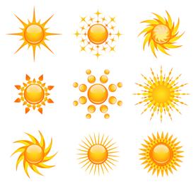Sol, ícone, vetorial, jogo