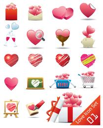 ícono en forma de corazón romántico 2