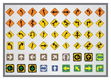 Velho ícone de sinais de trânsito