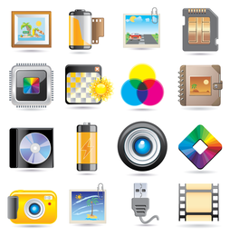 Exquisite technology icon vector