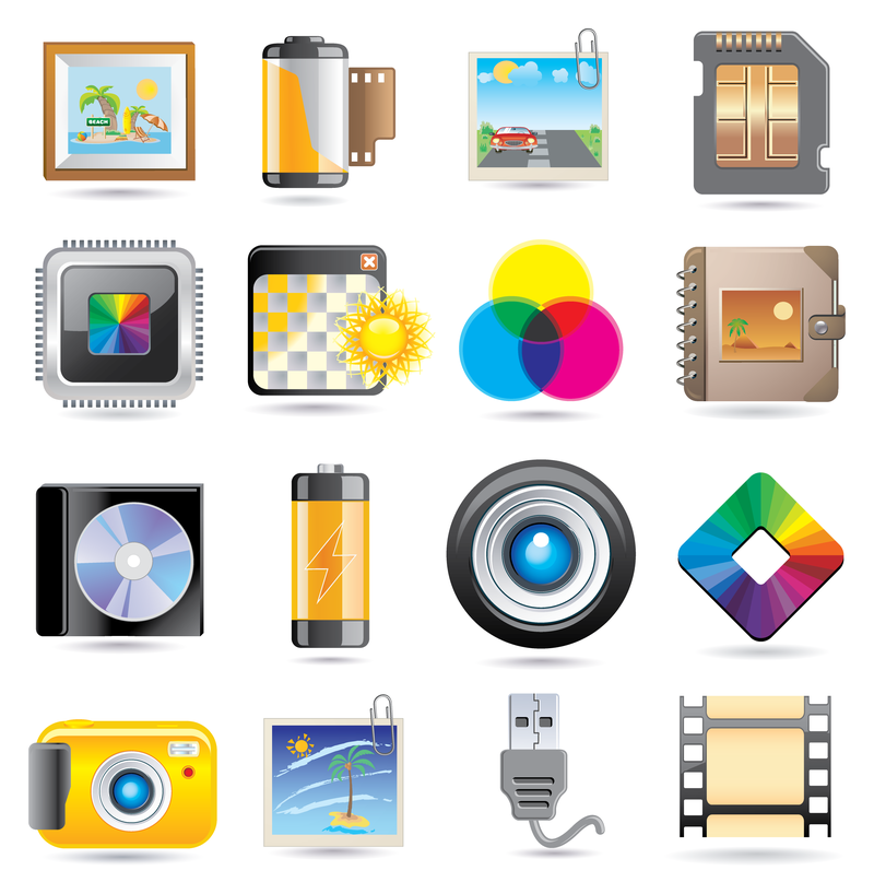 exquisite technology icon vector - vector download