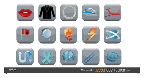 Pacote de ícones diversos