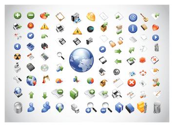 Pacote de ícones da Web