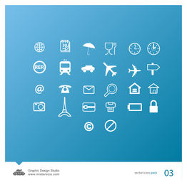 Travel icon set collection