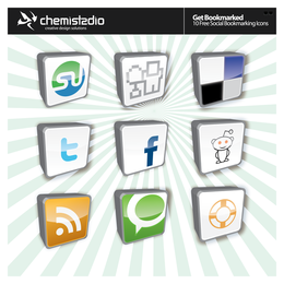 Social Bookmark Vector Icons,