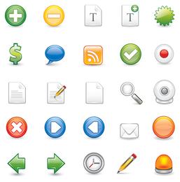 Iconos de formato de Illustrator escalable