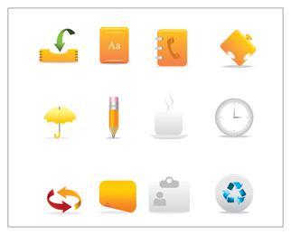 Conjunto de ícones de escritório simples