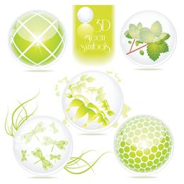 hermoso icono de tema verde