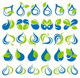 Icono de gráficos vectoriales verdes