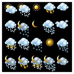 Ikone des Wetters 3D