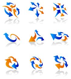 ícones dinâmicos da seta 1