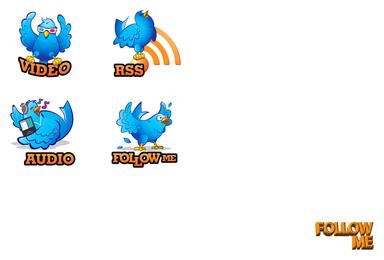 vector de icono de pájaro de twitter