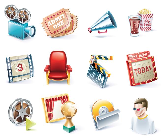 movie icon vector 1
