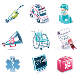 medical subjectdimensional icon vector