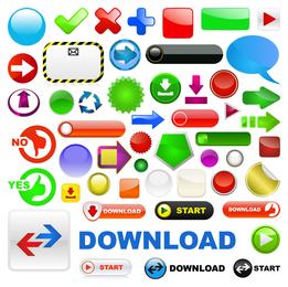 variedade de botão web20