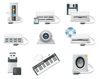 computer equipment icon vector