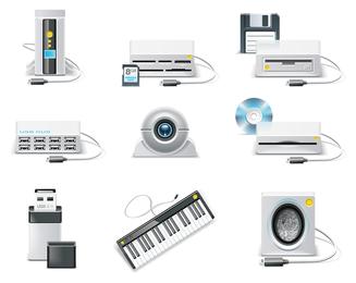 vetor de ícone de equipamento de computador