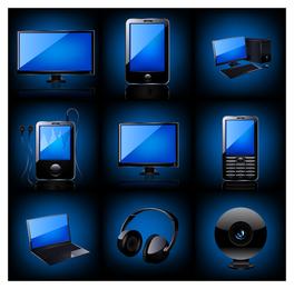 Conjunto de ícones 3D de dispositivos de tecnologia