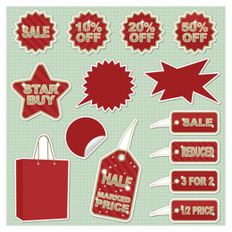 sticker sales discount theme