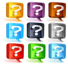 Vector de interrogación colorido