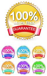 Etiqueta de garantía de devolución de dinero