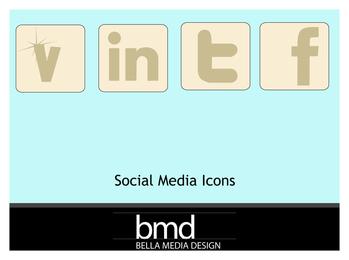 Ícones de mídia social sem som