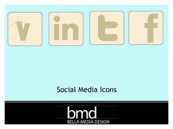 Muted Social Media icons