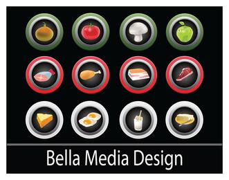 Iconos de la pantalla táctil