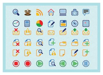 Iconos básicos de vectores