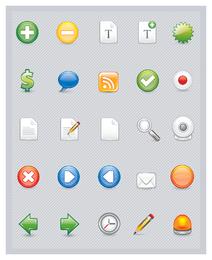 Web e ícones de negócios