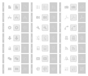 Pacote de ícones do telefone
