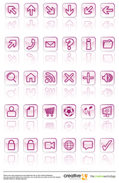 Glassy Vector Icons Set