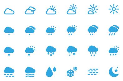 Vector de iconos de clima