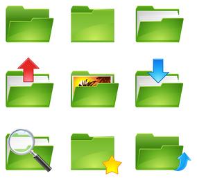 vetor de ícone de pasta verde