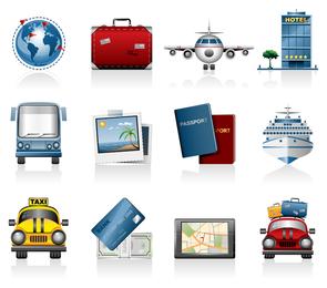 Vetor de ícone de viagens viagens