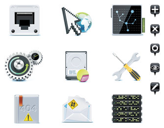 Server theme icon vector