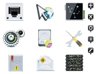 Vector de icono de tema de servidor