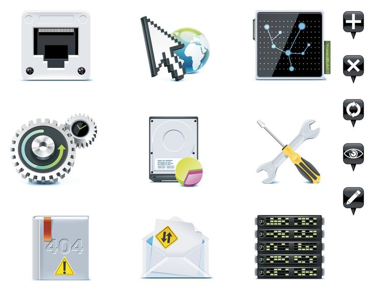 Server theme icon vector