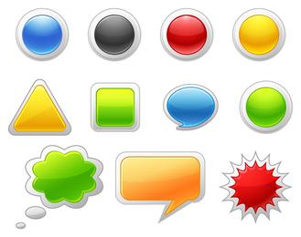 Artigos de botão de ir ícone