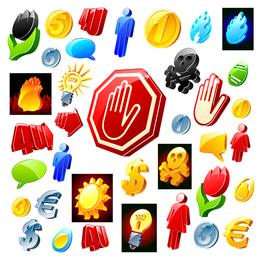 3d threedimensional icon vector